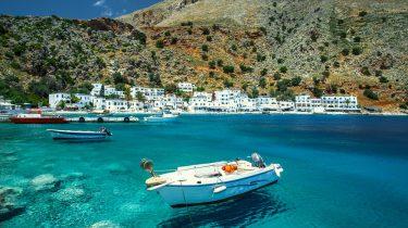 bootje in Kreta