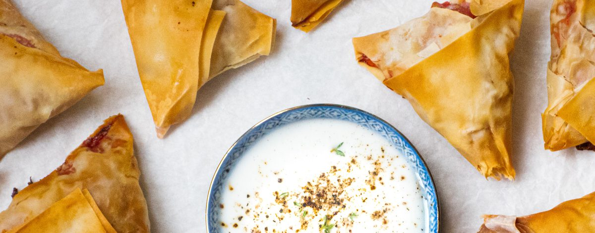 Vegan Samosas met yoghurtdip een heerlijk kidsproof kerstrecept