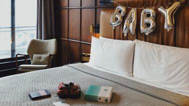Babymoon kamer van The Hoxton Amsterdam