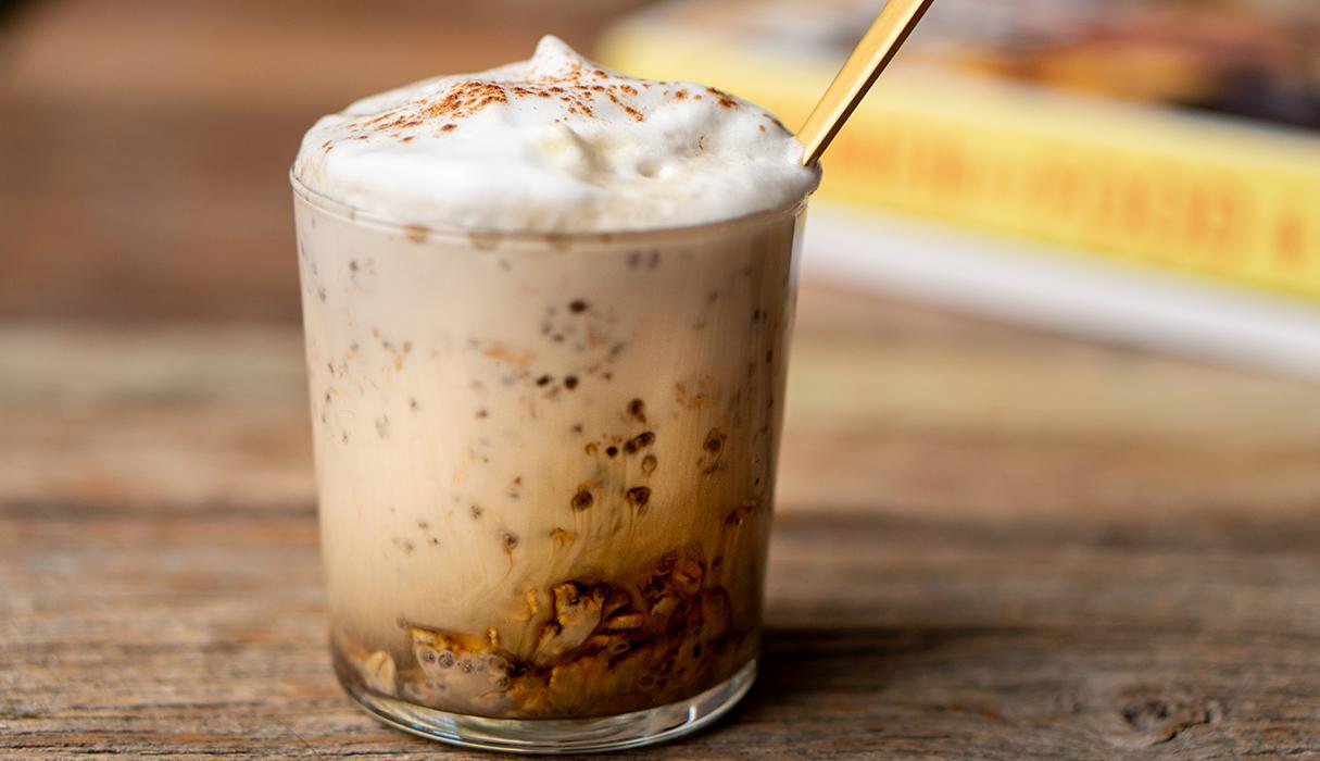 Overnight oats met koffie