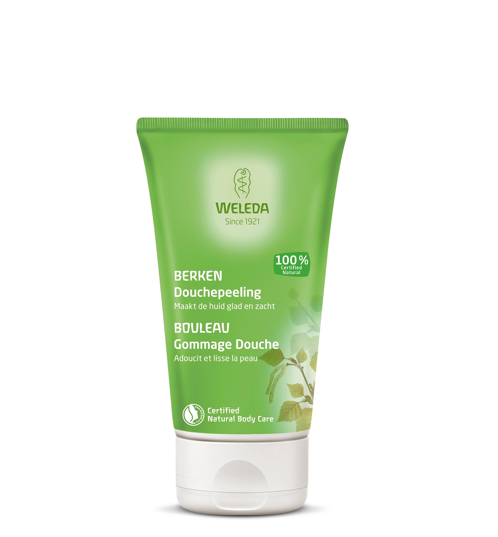 Weleda huidverzorgingsproducten Berken Douchepeeling