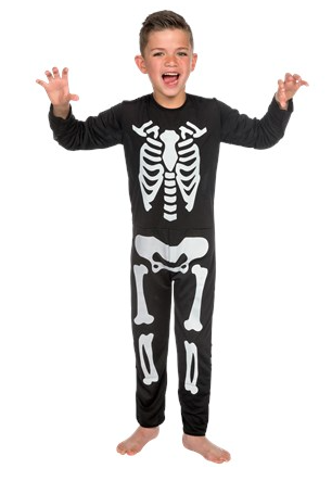 Skelet glow in the dark onesie